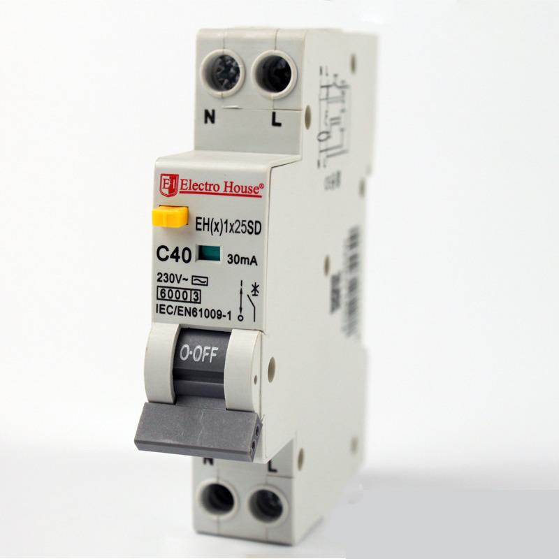 ДИФ Автомат 25А 1P+N(1 модуль) 6kA  EH(x) 1x25SD EH(x) 1x25SD