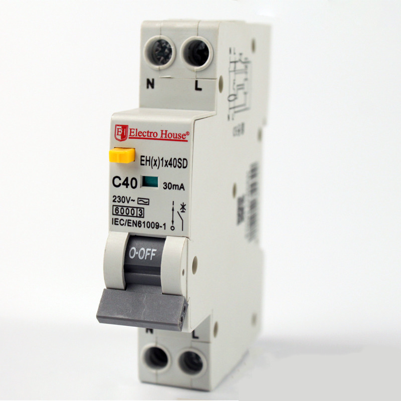 ДИФ Автомат 40А 1P+N(1 модуль) 6kA  EH(x) 1x40SD EH(x) 1x40SD