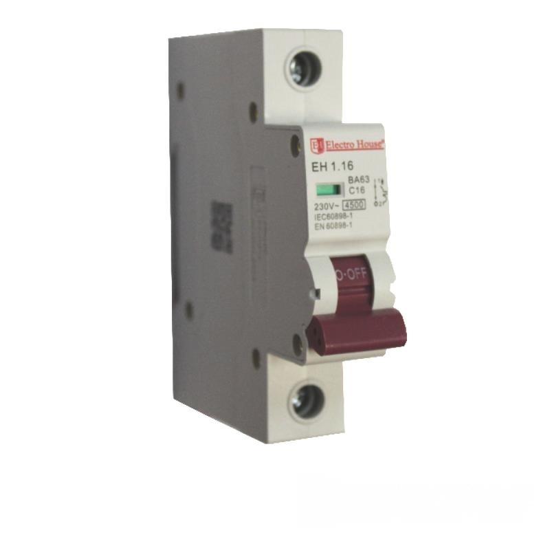Автоматический выключатель 1P 16A EH-1.16 EH-1.16
