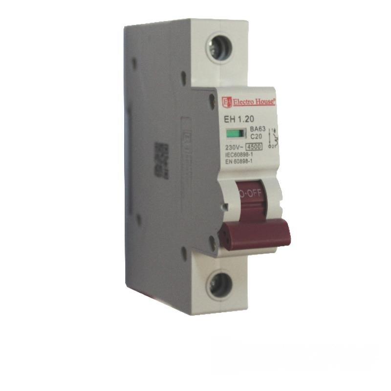 Автоматический выключатель 1P 20A EH-1.20 EH-1.20