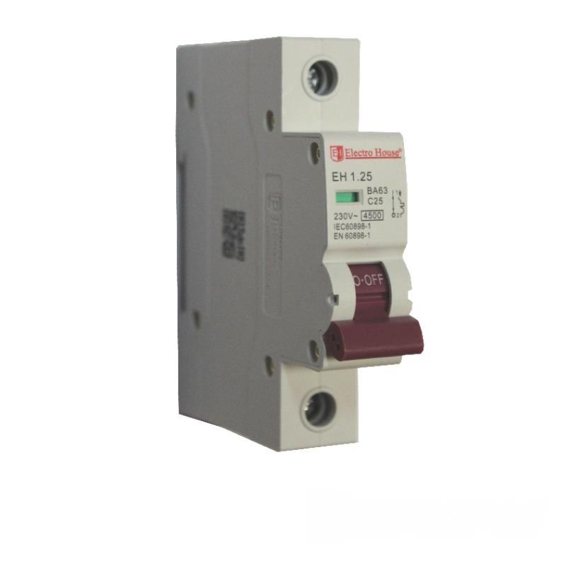 Автоматический выключатель 1P 25A EH-1.25 EH-1.25