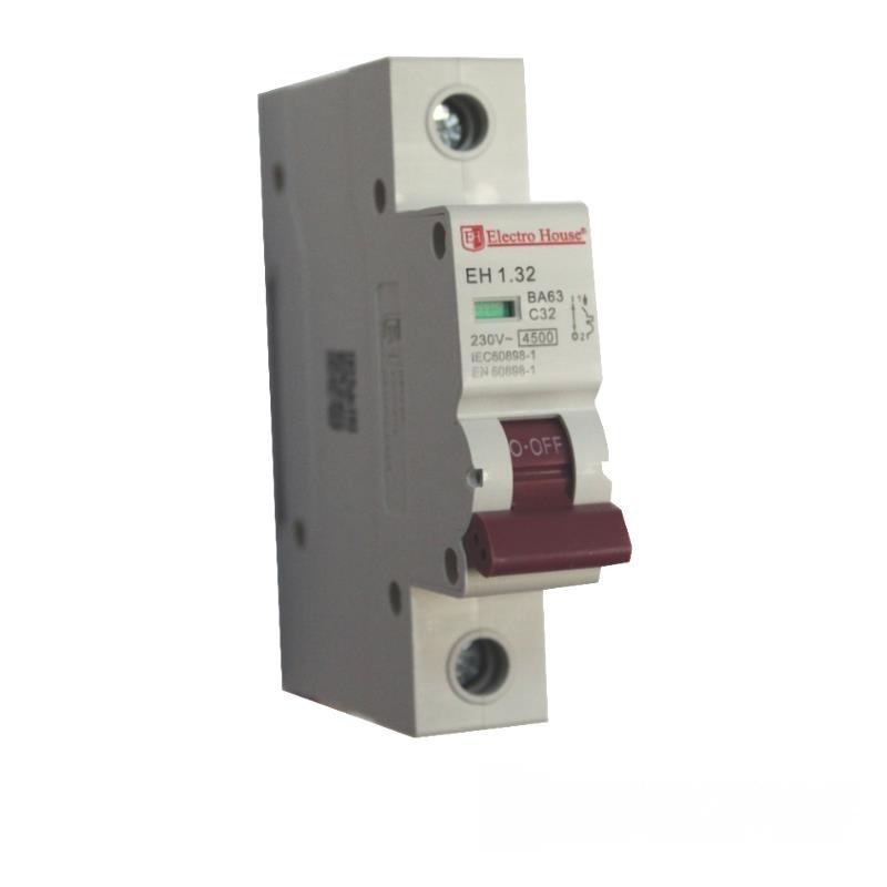 Автоматический выключатель 1P 32A EH-1.32 EH-1.32