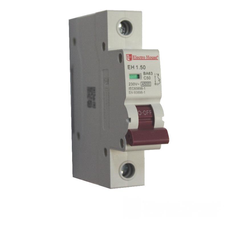 Автоматический выключатель 1P 50A EH-1.50 EH-1.50