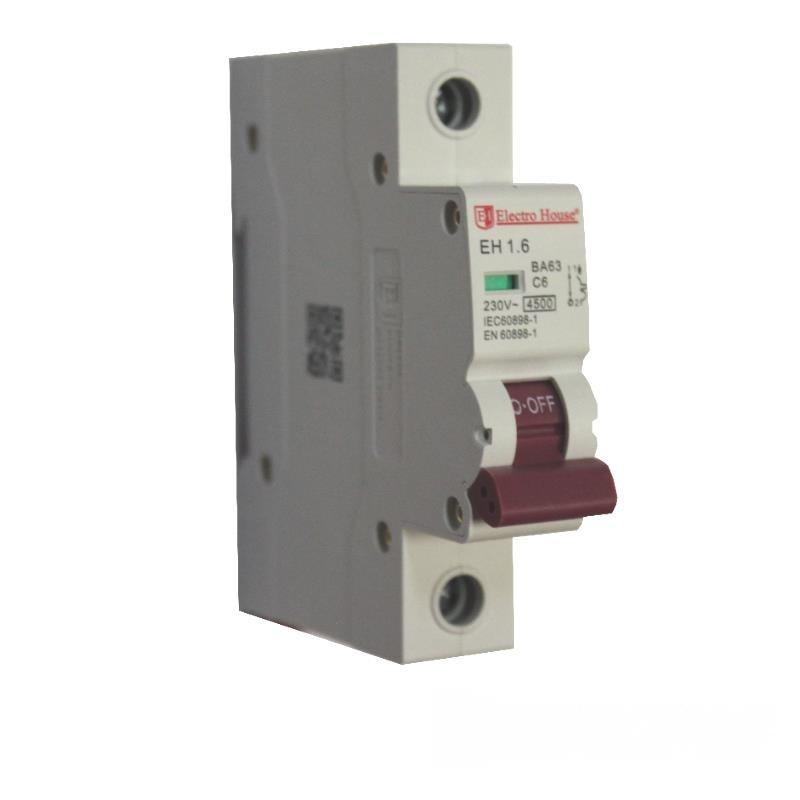 Автоматический выключатель 1P 6A EH-1.6 EH-1.6