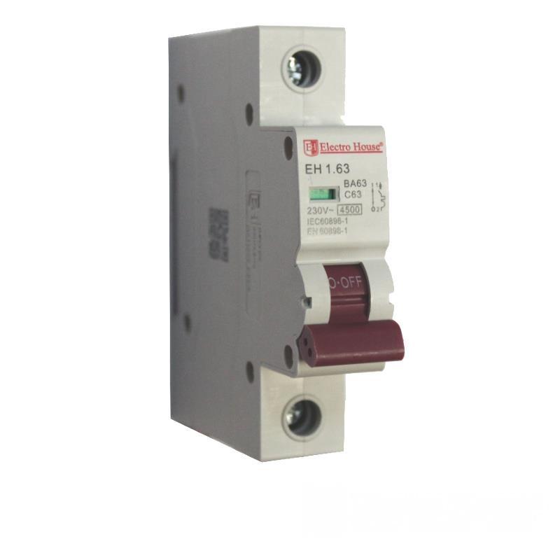Автоматический выключатель 1P 63A EH-1.63 EH-1.63