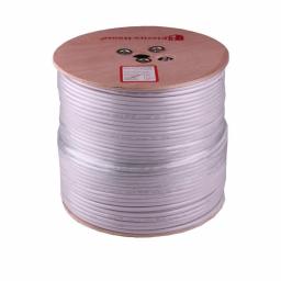 Телевізійний (коаксіальний) кабель RG-6U Cu 1,02 Cu  білий ПВХ