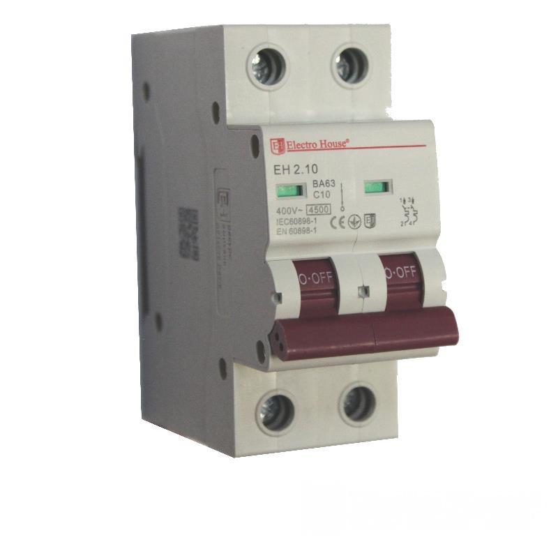 Автоматический выключатель 2P 10A EH-2.10 EH-2.10