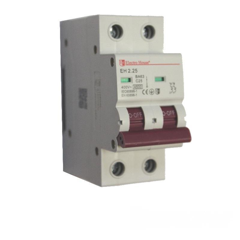 Автоматический выключатель 2P 25A EH-2.25 EH-2.25