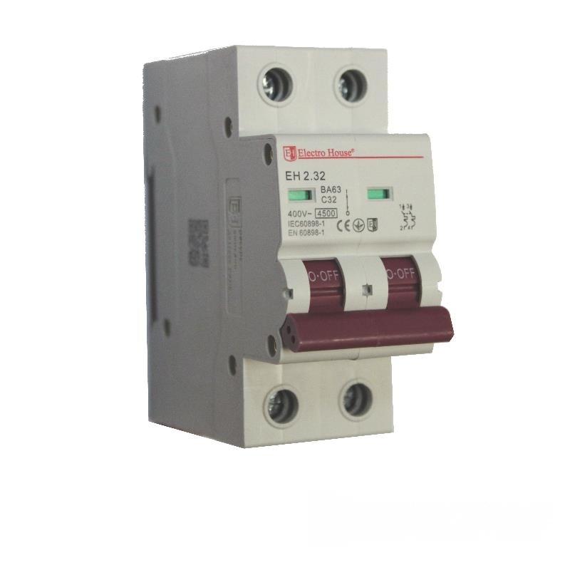 Автоматический выключатель 2P 32A EH-2.32 EH-2.32