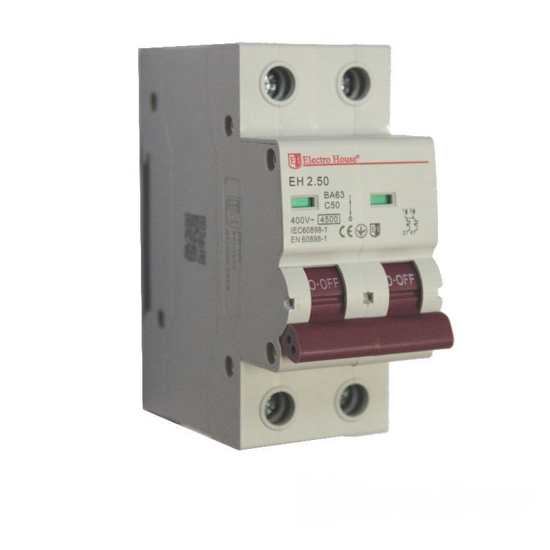 Автоматический выключатель 2P 50A EH-2.50 EH-2.50