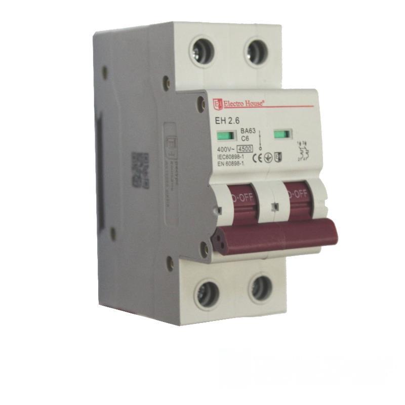 Автоматический выключатель 2P 6A EH-2.6 EH-2.6