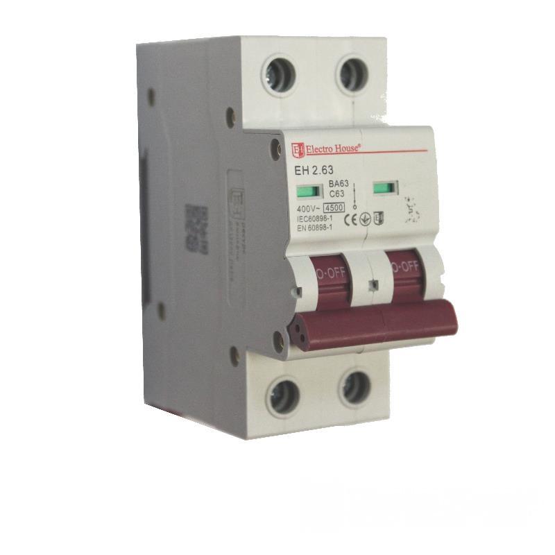 Автоматический выключатель 2P 63A EH-2.63 EH-2.63