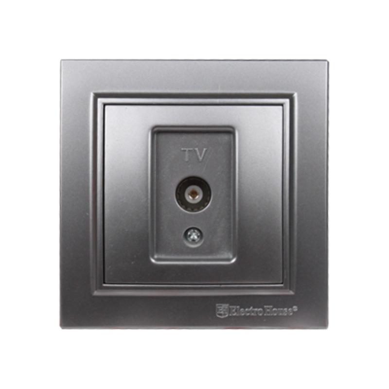 Розетка телевизионная серебро Enzo EH-2113-ST