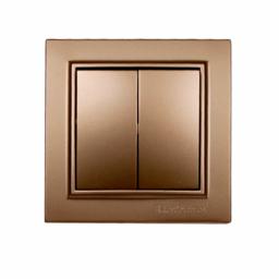 Выключатель двойной золото Enzo EH-2182-LG