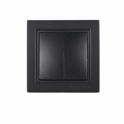 Выключатель двойной Безупречный графит Enzo IP22