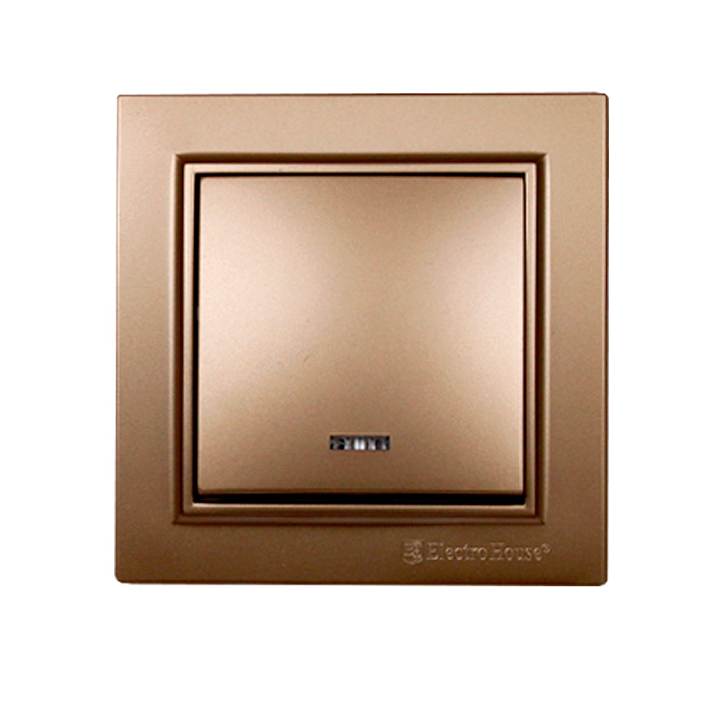 Выключатель с подсветкой золото Enzo EH-2183-LG EH-2183-LG