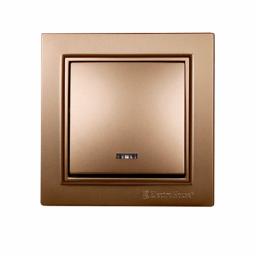 Выключатель с подсветкой золото Enzo EH-2183-LG