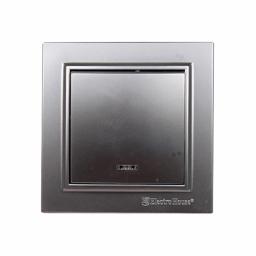 Вимикач з підсвічуванням Срібний камінь Enzo IP22