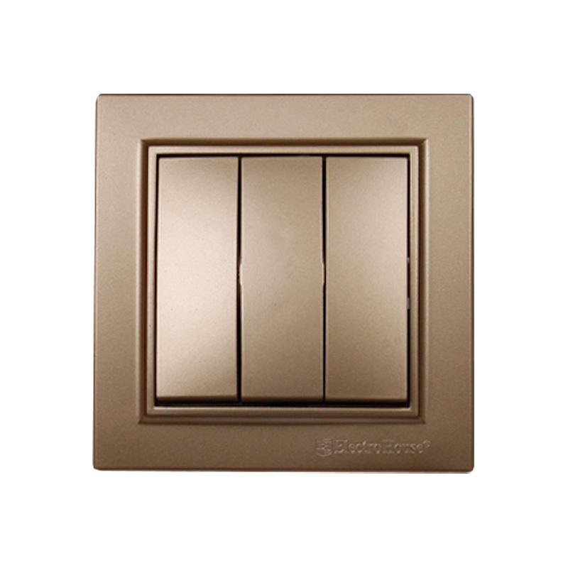 Выключатель тройной золото Enzo EH-2185-LG EH-2185-LG