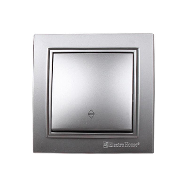 Выключатель проходной серебро Enzo EH-2186-ST