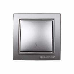 Вимикач прохідний Срібний камінь Enzo IP22