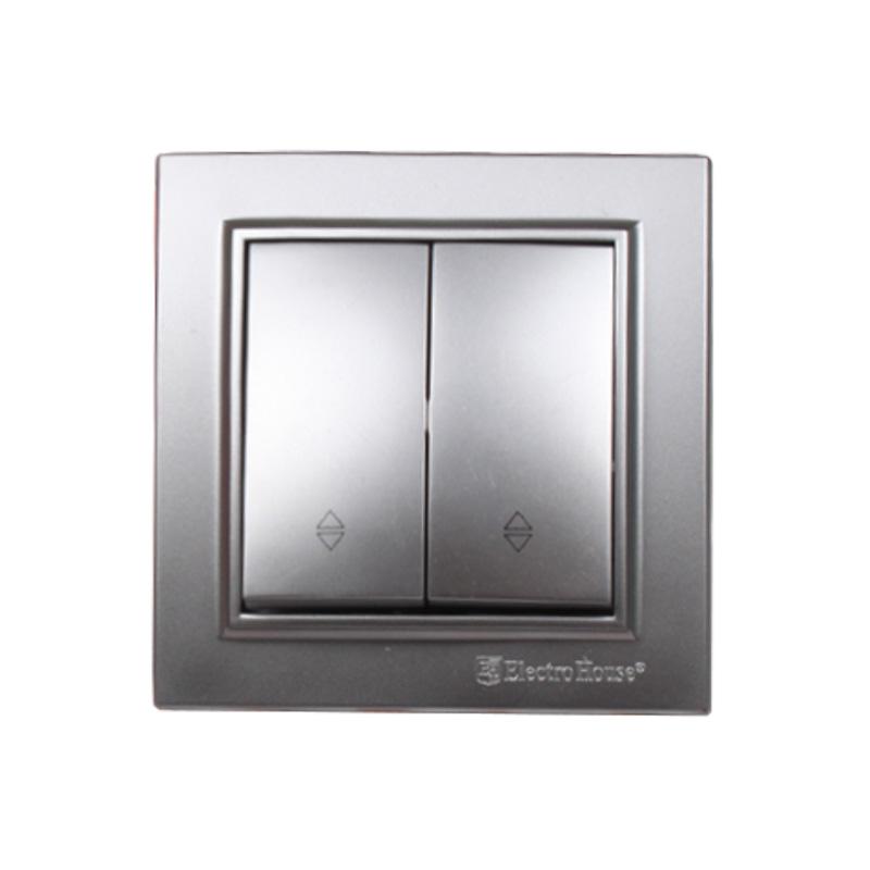 Выключатель 2-й пр-й серебро Enzo EH-2187-ST