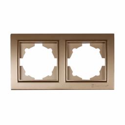 Рамка двойная роскошно золотой Enzo