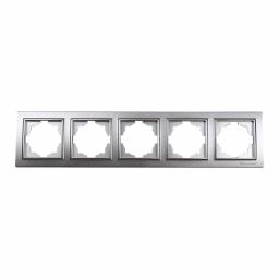 Рамка п'ятимісна срібло Enzo