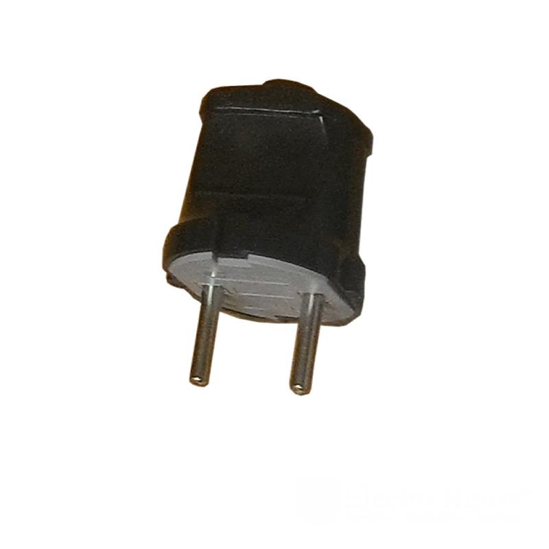 Вилка без заземления черная Garant EH-2223