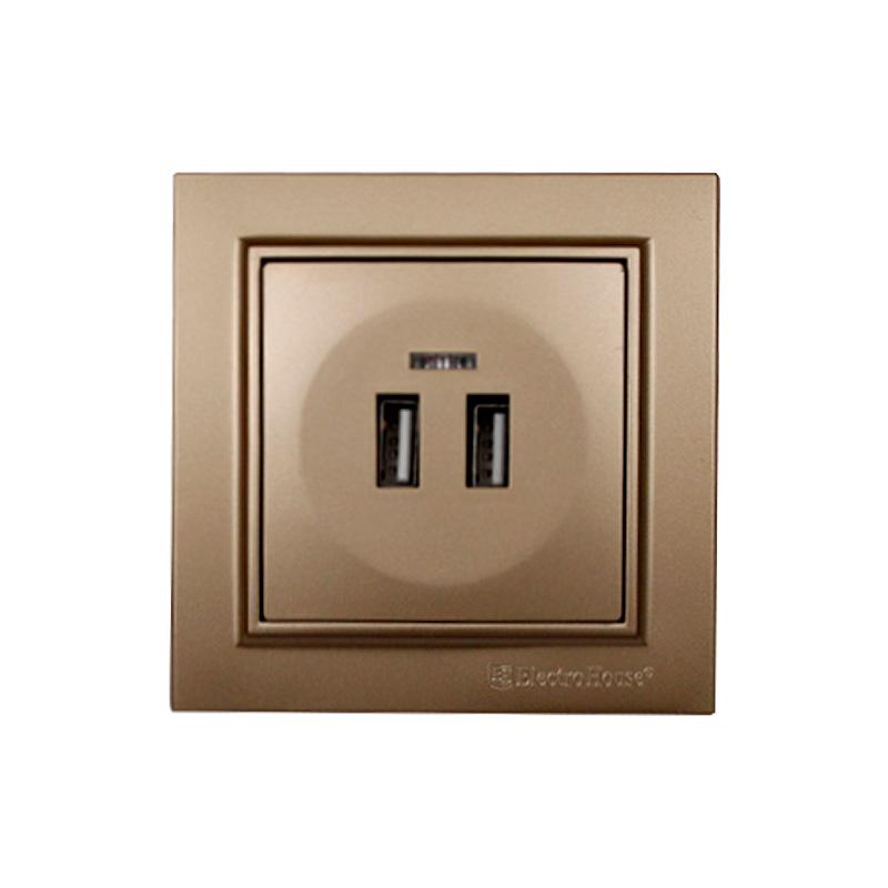Розетка USB роскошно золотой Enzo EH-2530-LG
