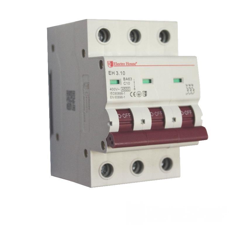 Автоматический выключатель 3P 10A EH-3.10 EH-3.10