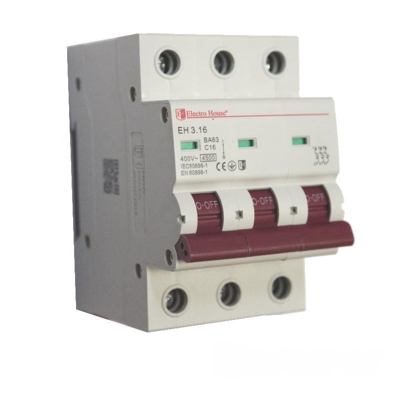 Автоматический выключатель 3P 16A EH-3.16 EH-3.16