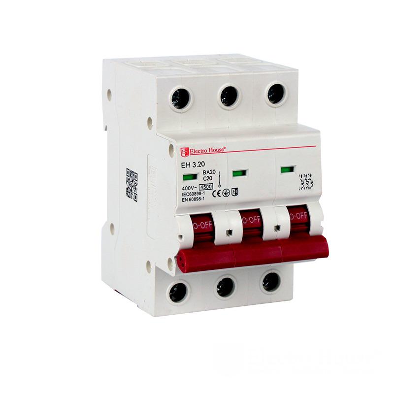 Автоматический выключатель 3 полюса 20А EH-3.20