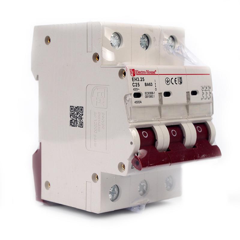 Автоматический выключатель 3P 25A EH-3.25 EH-3.25