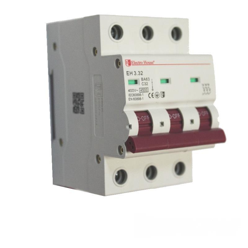 Автоматический выключатель 3P 32A EH-3.32 EH-3.32