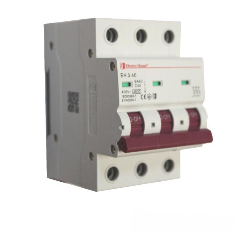 Автоматический выключатель 3P 40A EH-3.40 EH-3.40