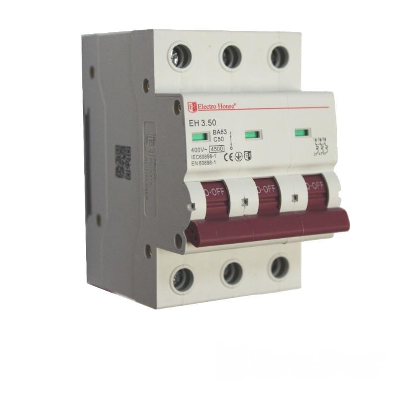 Автоматический выключатель 3P 50A EH-3.50 EH-3.50
