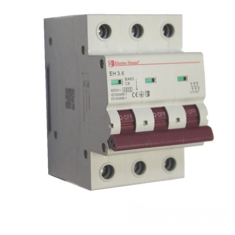 Автоматический выключатель 3P 6A EH-3.6 EH-3.6