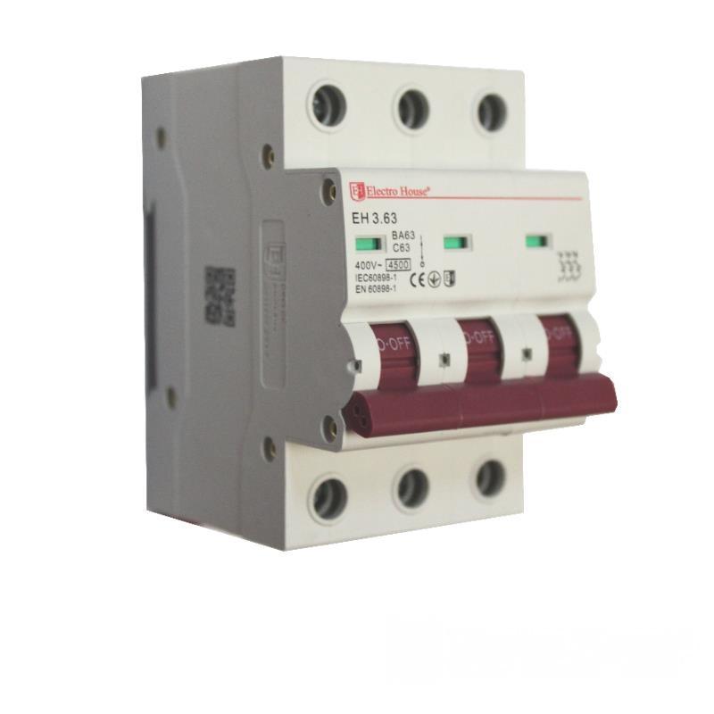 Автоматический выключатель 3P 63A EH-3.63 EH-3.63