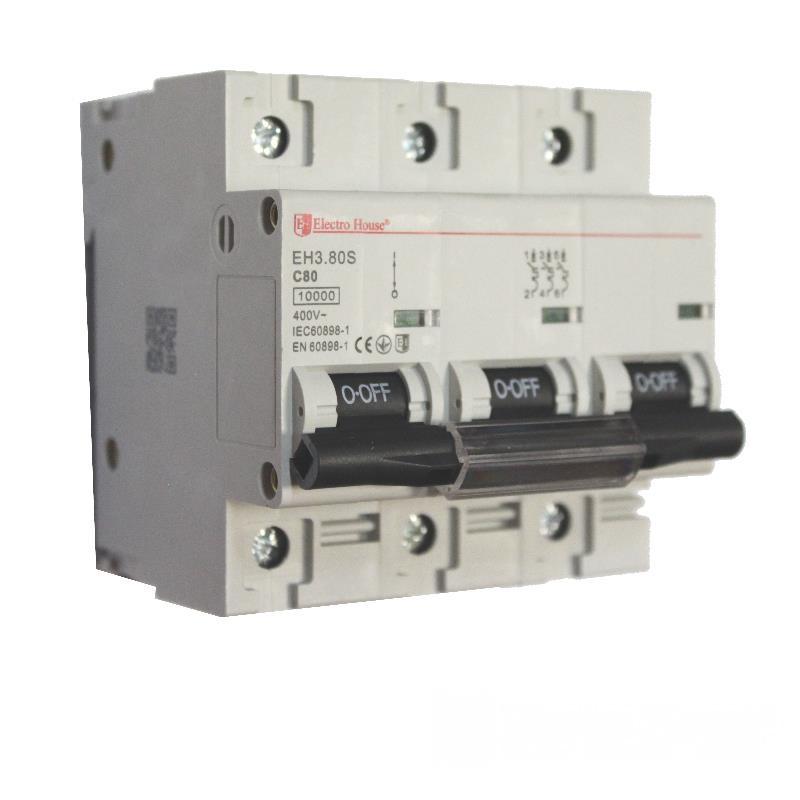 Автоматический выключатель силовой 80A EH-3.80S EH-3.80S