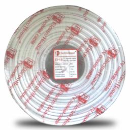 Телевізійний (коаксіальний) кабель RG - 6U Cu 1,02 Cu білий ПВХ
