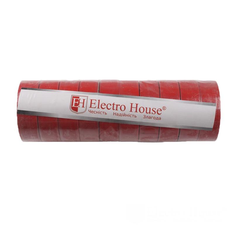 Изолента красная 0,15мм х 18мм х 21м EH-AHT-1825