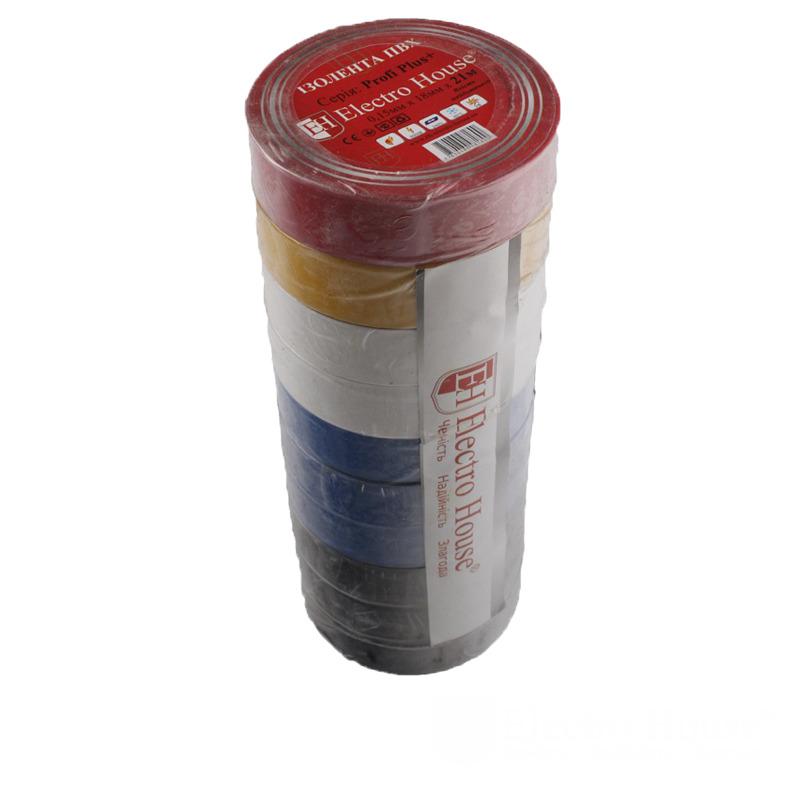 Изолента ассорти 0,15мм х 18мм х 21м EH-AHT-1826