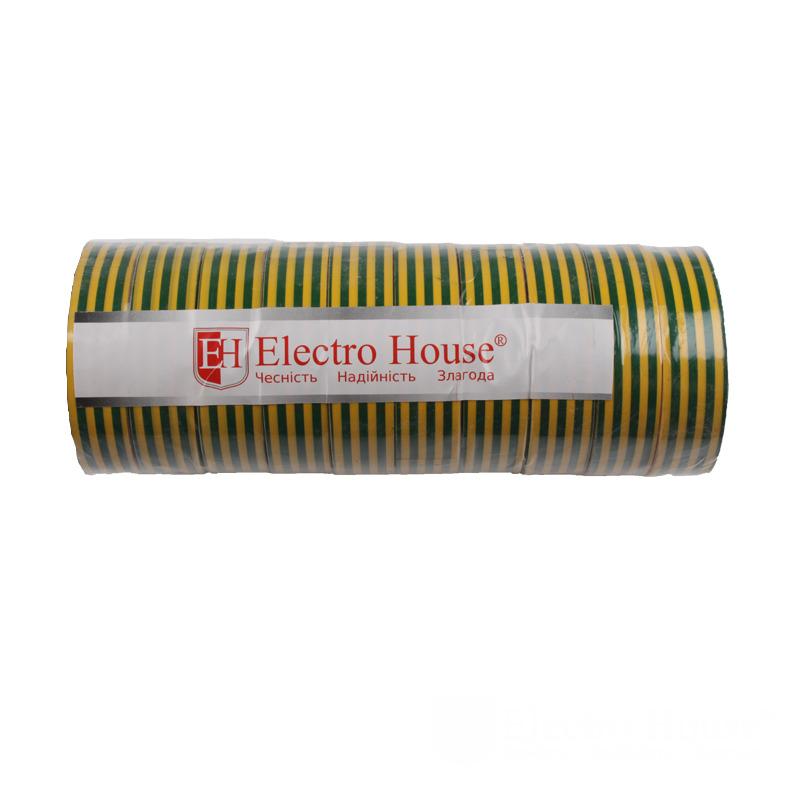 Изолента желто-зеленая 0,15мм х 18мм х 25м EH-AHT-1831
