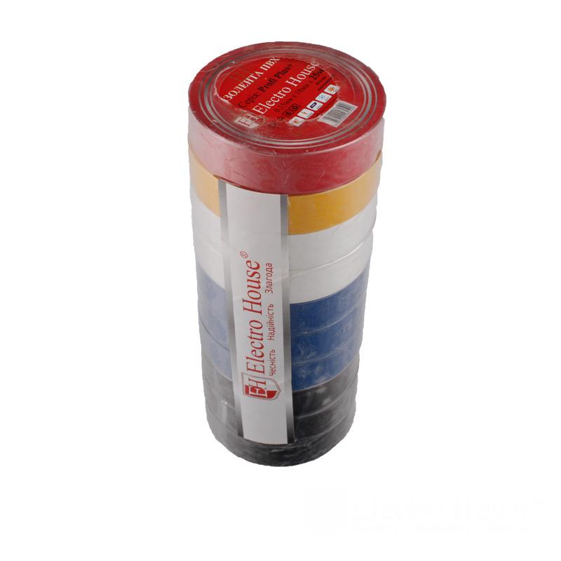 Изолента ассорти 0,15мм х 18мм х 25м EH-AHT-1834