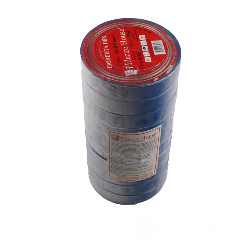 Изолента синяя 0,15мм х 18мм х 50м EH-AHT-1835