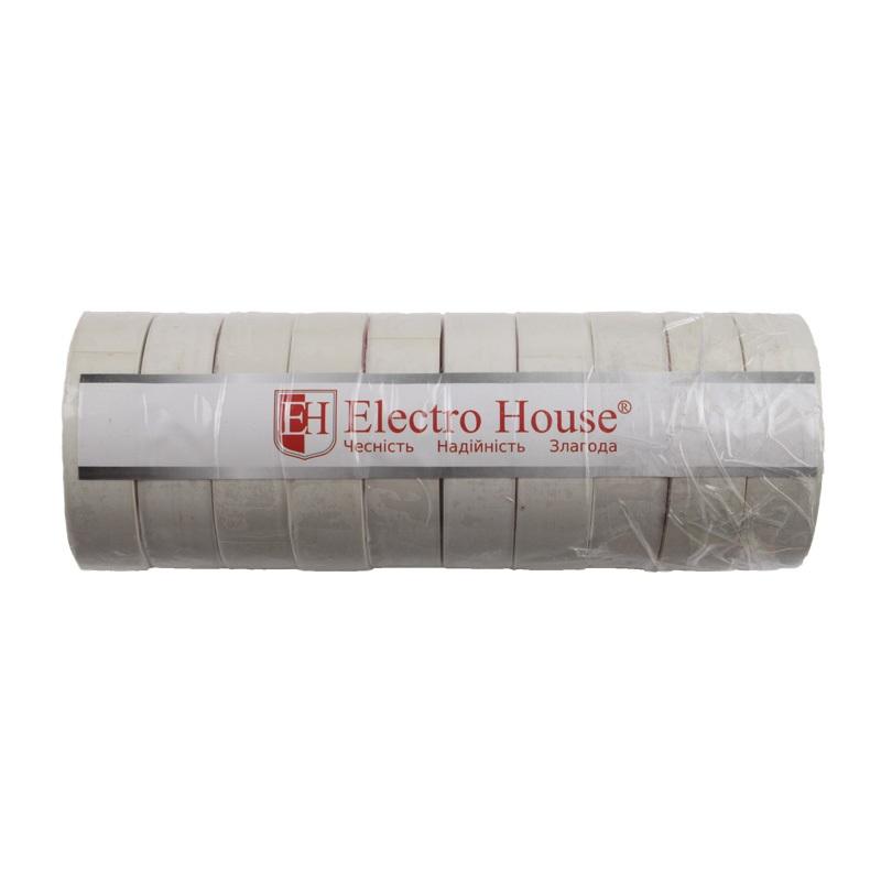Изолента белая 0,15мм х 18мм х 50м EH-AHT-1837