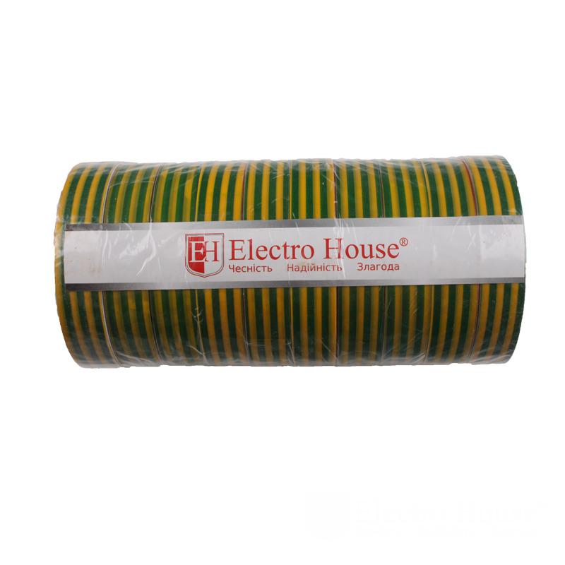 Изолента желто-зеленая 0,15мм х 18мм х 50м EH-AHT-1840