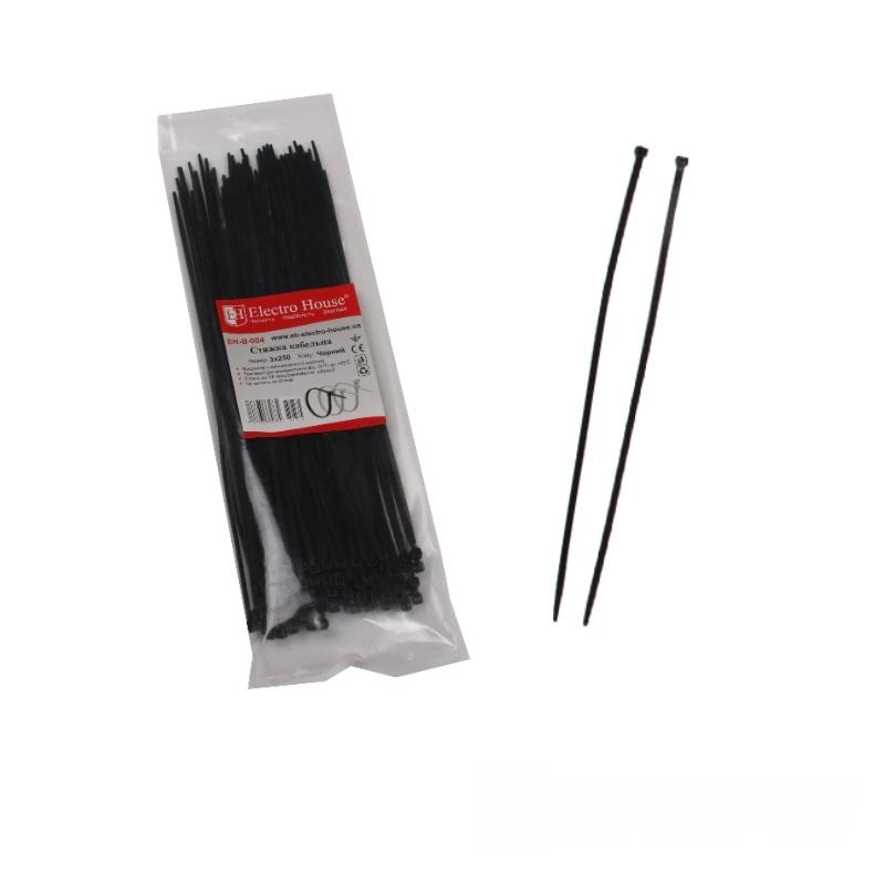 Стяжка кабельная чёрная 3x250 EH-B-004