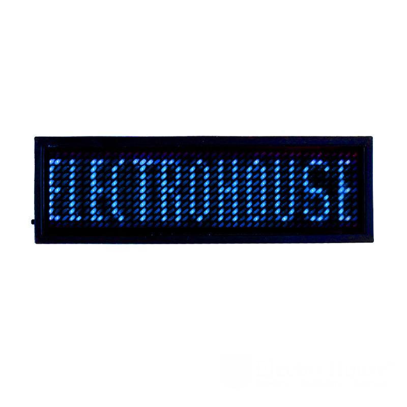 Электронный Led бейдж, синий EH-BL-002